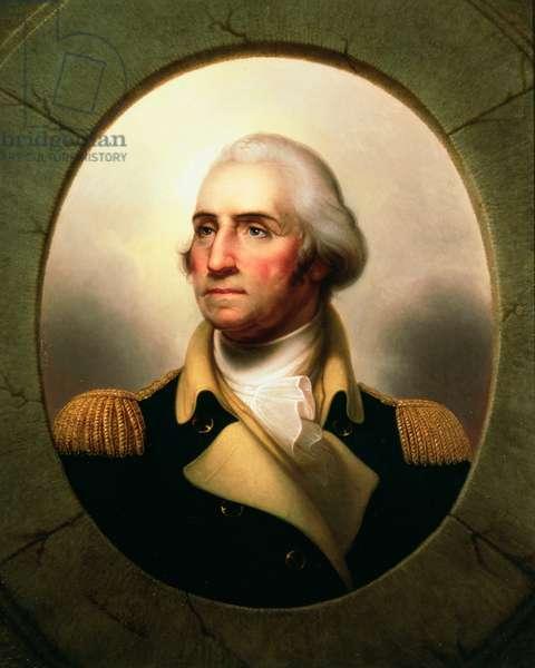 Porthole Portrait of George Washington, 1795 (oil on canvas)