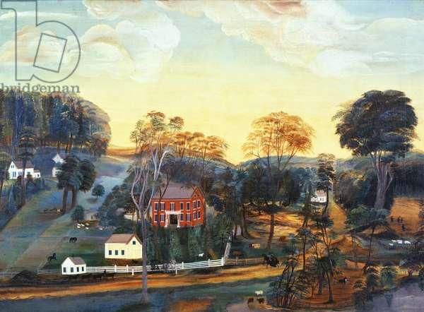 Isaac Powers Farm and Mine, c.1800 (oil on canvas)