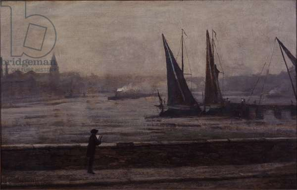 The Thames from Battersea Bridge, 1863 (oil on canvas)