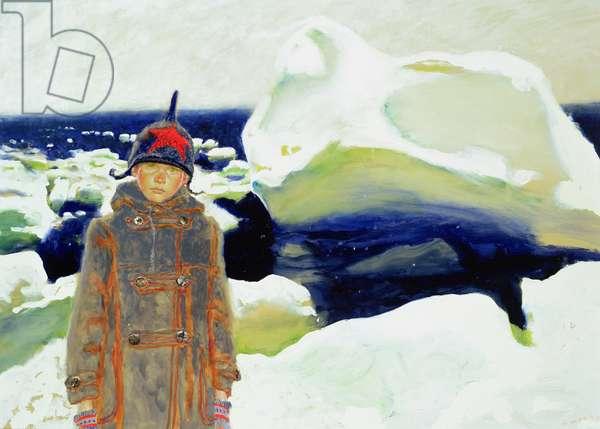 Iceberg, 2001 (w/c on board)