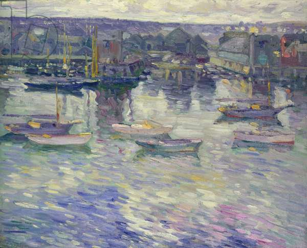 Moored Boats, c.1919 (oil on canvas)