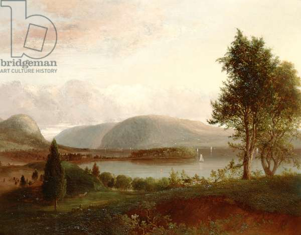 Denning's Point, Hudson River, c.1839 (oil on mounted canvas)