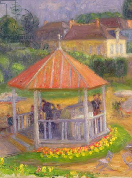 Bandstand (oil on canvas on board)