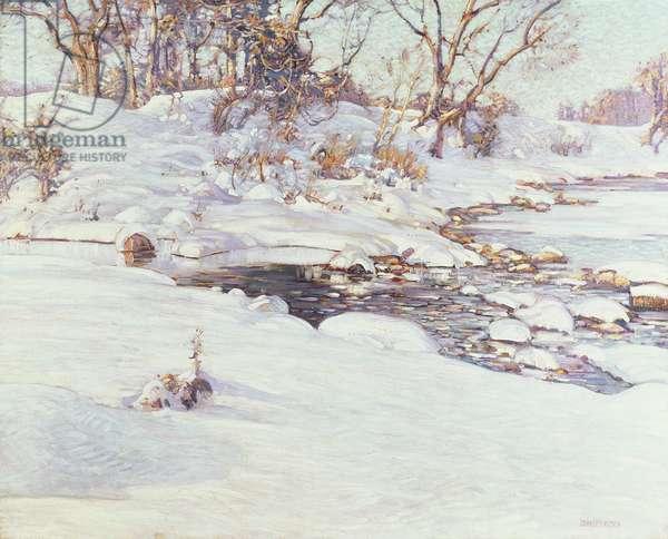Winter Sunlight, 1917 (oil on canvas)