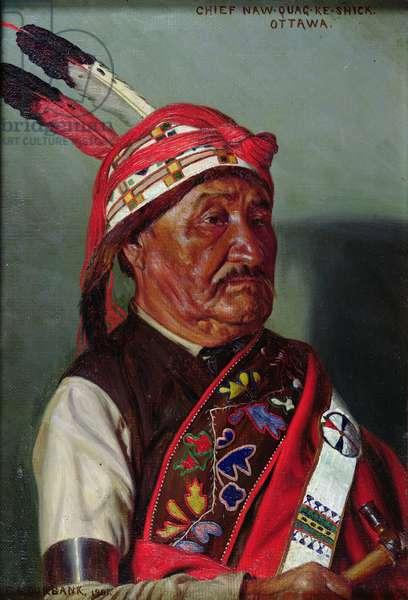 Chief Naw-quag-ke-shick, 1901 (oil on canvas)