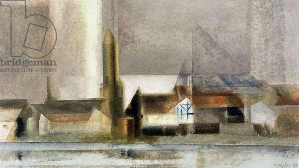 Der Pulvertum I, 1927 (oil on canvas)