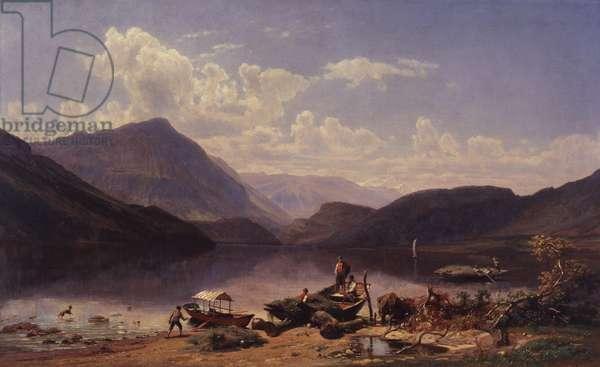 Landscape Near Rome, 1858 (oil on canvas)