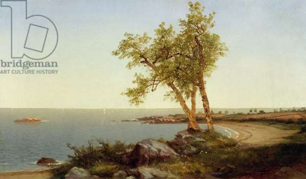 Shore Line in Summer (oil on canvas)