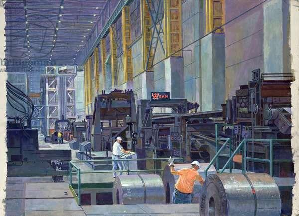 Heavy Gage Strip Galvanizing (oil on canvas)