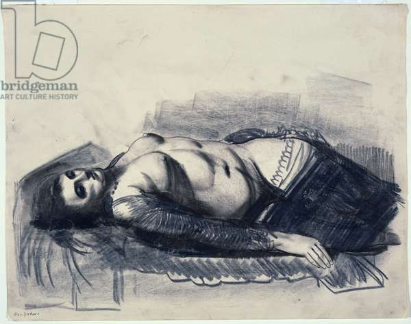 Odalisque (crayon on paper)