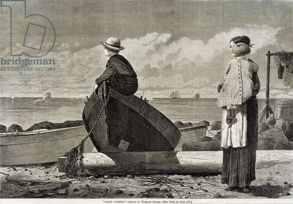 Dad's Coming, 1873 (woodblock print)