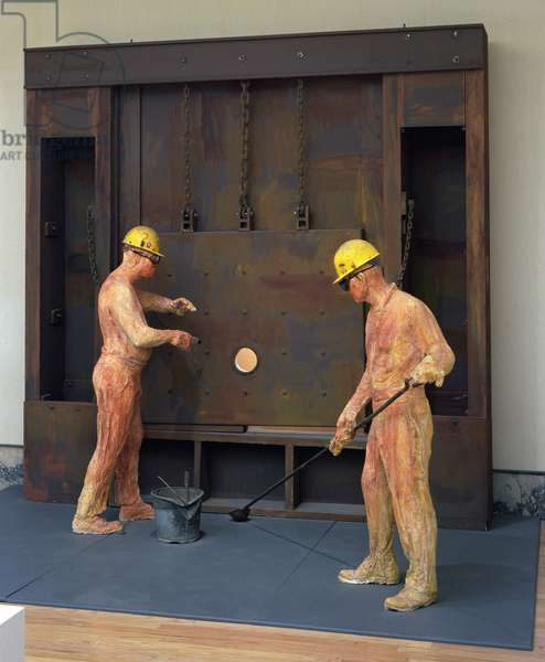 The Steel Makers, 1980 (mixed media)