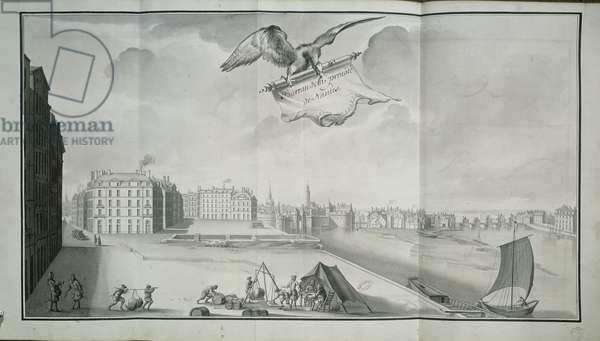 The Gabelle, Nantes, in 1723 (pen & ink on paper)