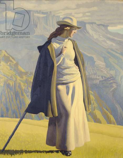 Young Woman Walking in the Mountains, 1904 (oil on canvas)
