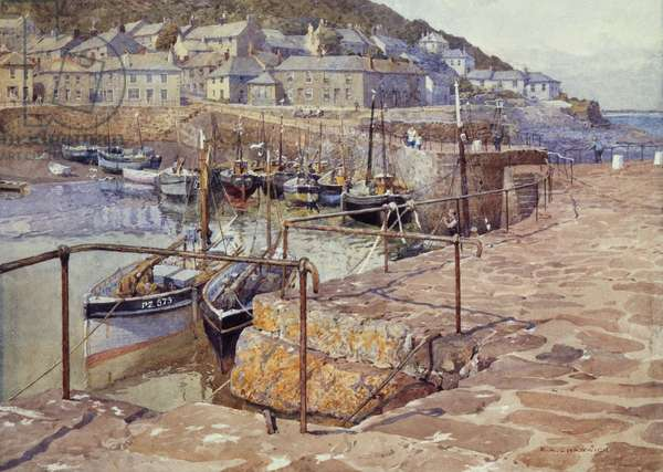 Mousehole, Cornwall (w/c on paper)