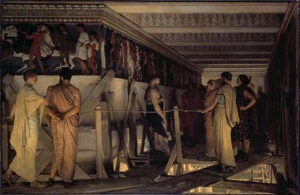 Pheidias and the Frieze of the Parthenon, Athens, 1868 (oil on panel)