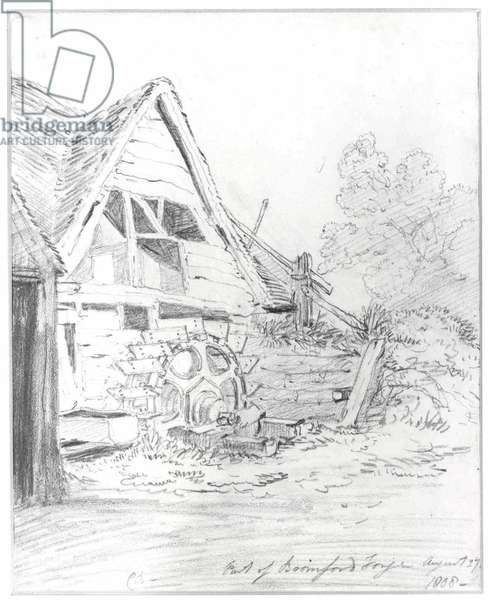 Bromford Forge, Erdington, 1808 (pencil on paper)
