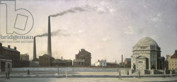 Birmingham with the Hall of Memory, 1929 (oil on canvas)