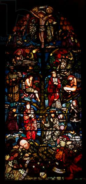 The Tree of Jesse, 1861-62 (stained glass)