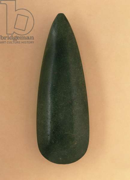 Stone axe found in Toulouse, France (jadeite)