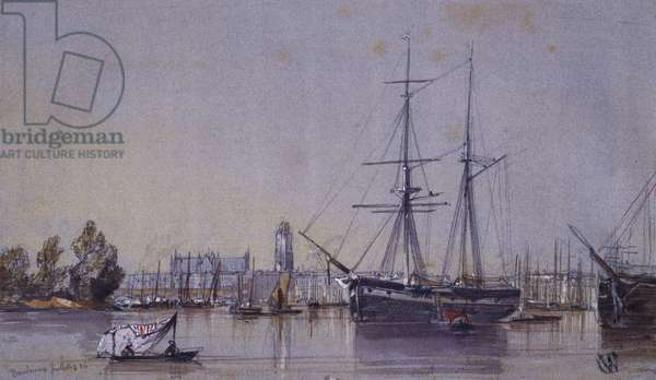 Bordeaux, 1836 (w/c & pencil on paper)