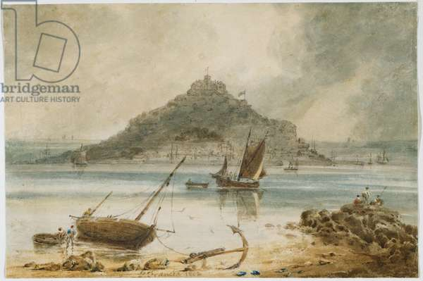 Mont St Michel, 1802 (w/c on paper)