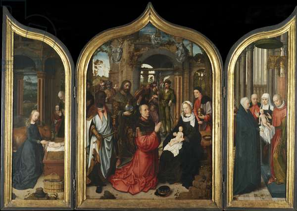 Triptych, c.1510-12 (oil on panel)