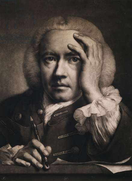 Self Portrait, 1760 (mezzotint)