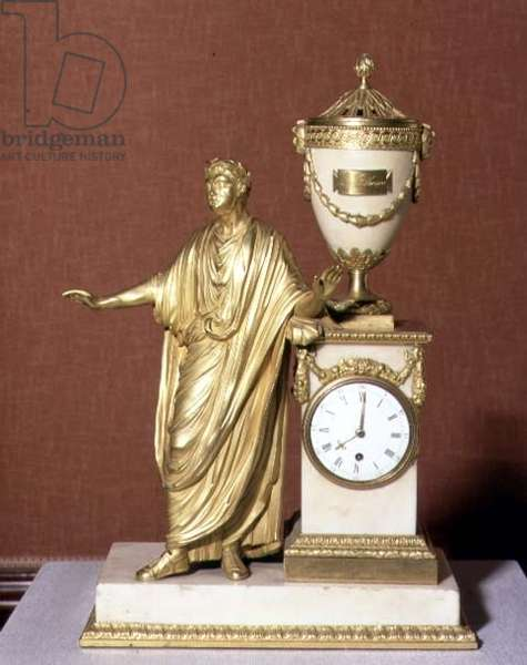 Titus ormolu clock, designed by Matthew Boulton (1728-1809) (gilt bronze)