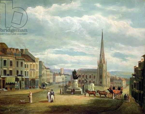 View of St Martin's Church, Birmingham (w/c on paper)