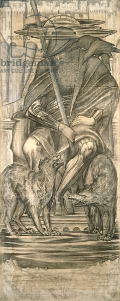 Odin, 1883 (black chalk on paper)