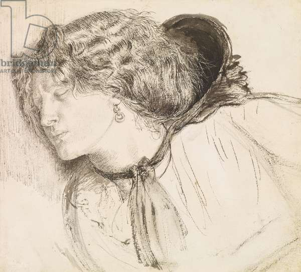 Fanny Cornforth: Study for 'Found', c.1859-61 (pen & ink on paper)