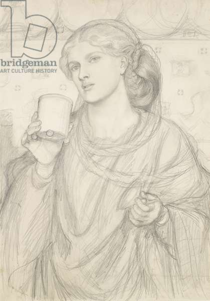 Study for 'The Loving Cup' (pencil on paper)
