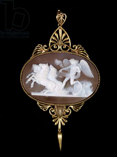 Pendant, c.1880 (gem cameo, mounted in gold)