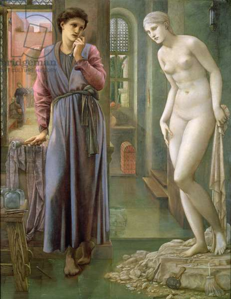 Pygmalion and the Image: The Hand Refrains (oil on canvas)