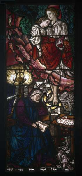 The Story of Dante and Beatrice, 1907 (stained glass)