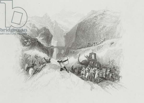 Hannibal (247-183 BC) Passing the Alps, 1830 (proof impression of engraving on steel)