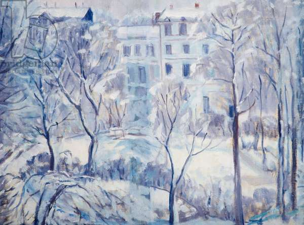 Snow In Russell Square, c.1935-40 (oil on canvas)