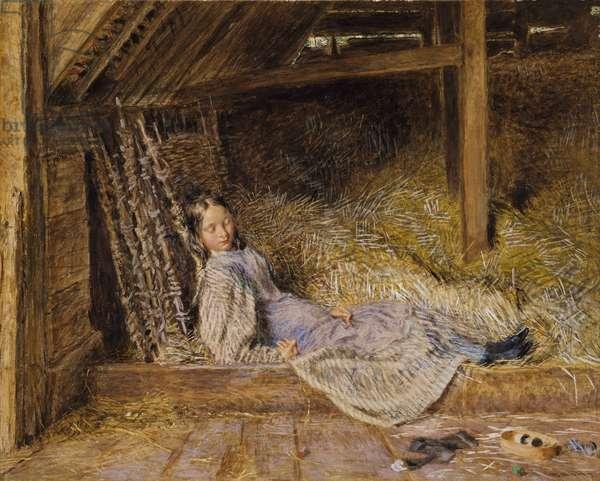 Slumber, c.1835-40 (w/c & bodycolour on paper)