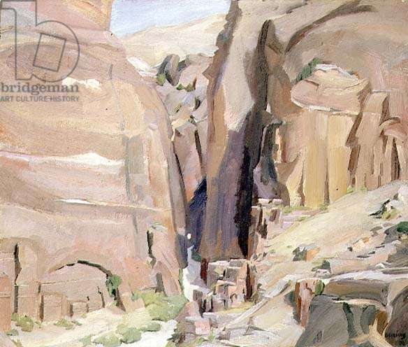 Bab-Es-Siq, Petra (oil on canvas)