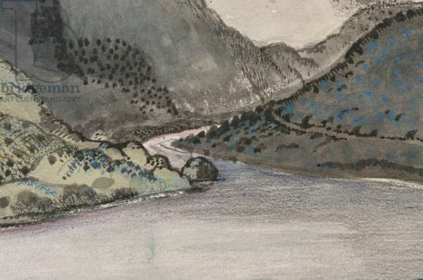 Thirlmere (w/c with chalk over pencil on paper)