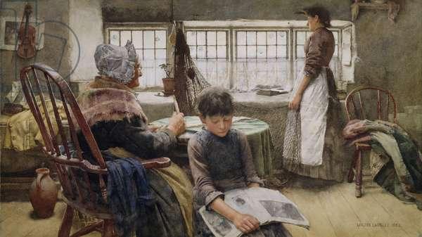 Memories, 1885 (w/c on paper)