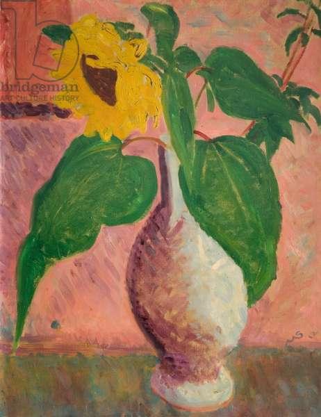 Sunflower, 1919 (oil on canvas)