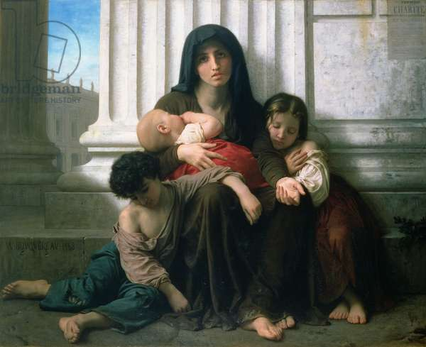Charity or The Indigent Family', 1865 (oil on canvas)