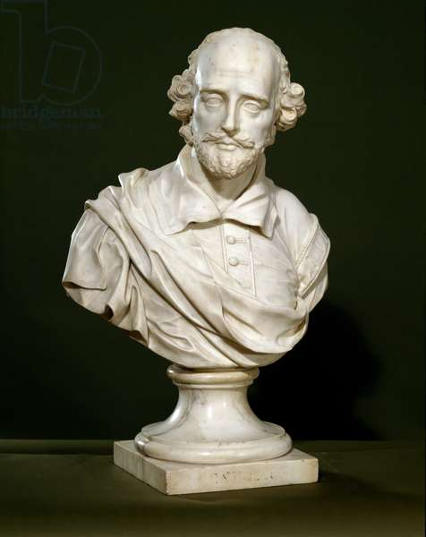 Bust of William Shakespeare, 1760 (marble)