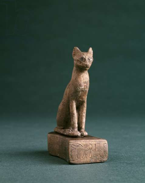 Figurine of a cat, c.300BC (bronze)