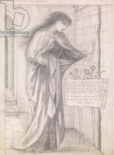 Thisbe, design possibly for a tile, c.1865 (pencil on paper)