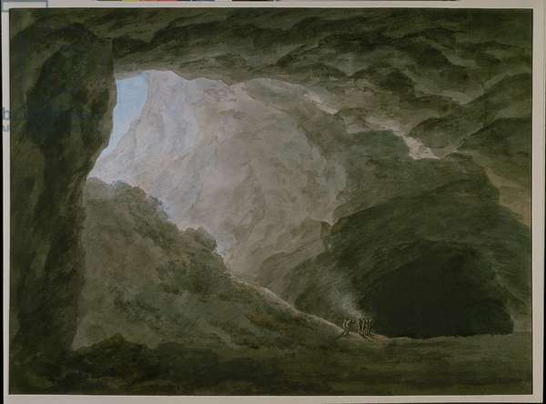 Grotto in the Campagna (w/c on paper)