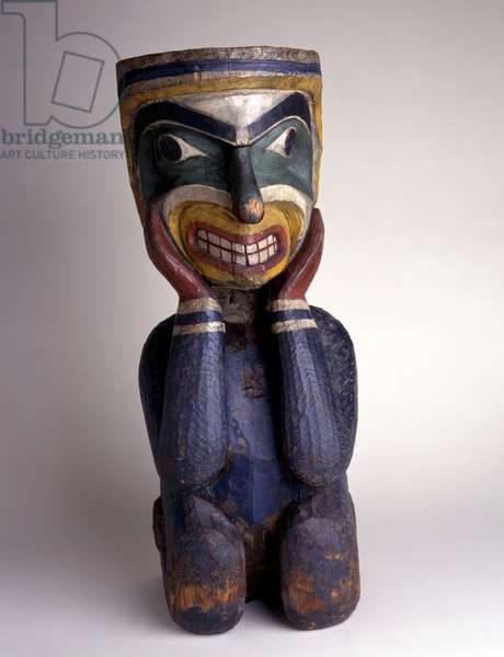 Carved figure, Kwakiutl People, from north-west British Columbia, c.1910-25 (painted wood)