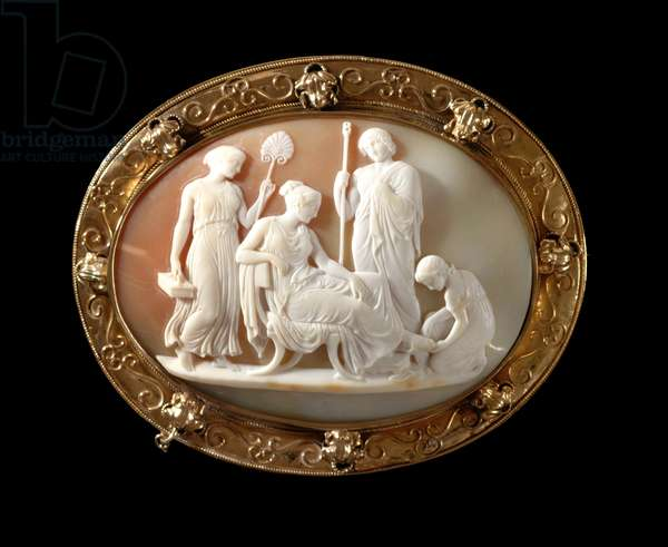 Brooch, c.1860 (shell cameo, mounted in gold)